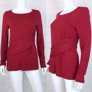 CAbi Applaud Red Blouse Top